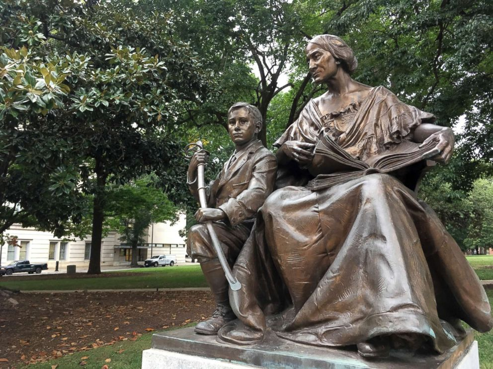 PHOTO: A monument inscribed To the North Carolina Women of the Confederacy is seen on Thursday, Aug. 17, 2017 on the grounds of the old State Capitol in Raleigh, N.C.