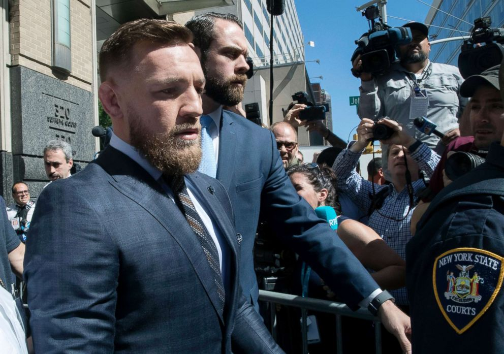 Mary Altaffer  APConor Mc Gregor appears at Brooklyn Criminal Court