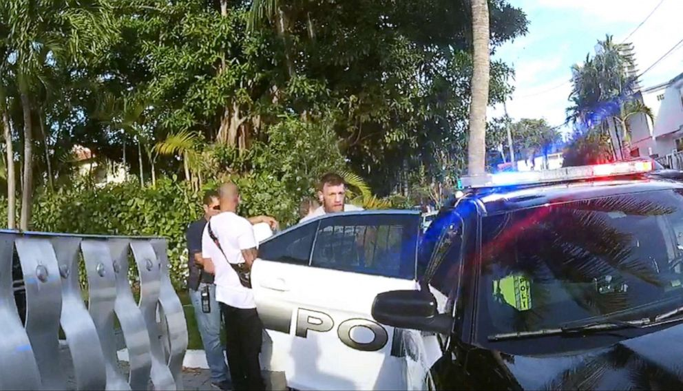 PHOTO: Conor Mcgregors arrest is pictured in this image made from video released by Miami Dade Attorneys Office.