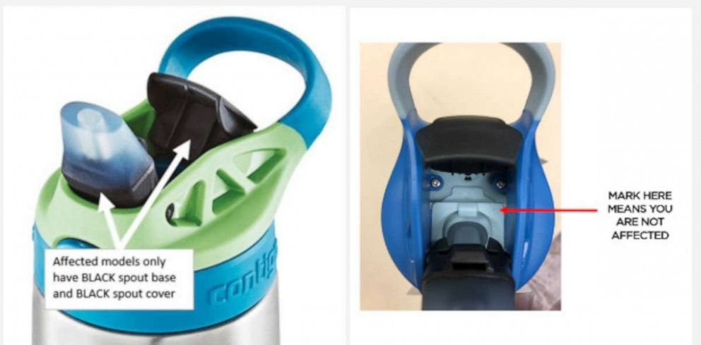 PHOTO: Contigo released a consumer warning and issued a voluntary recall on lids for some kids cleanable water bottles.