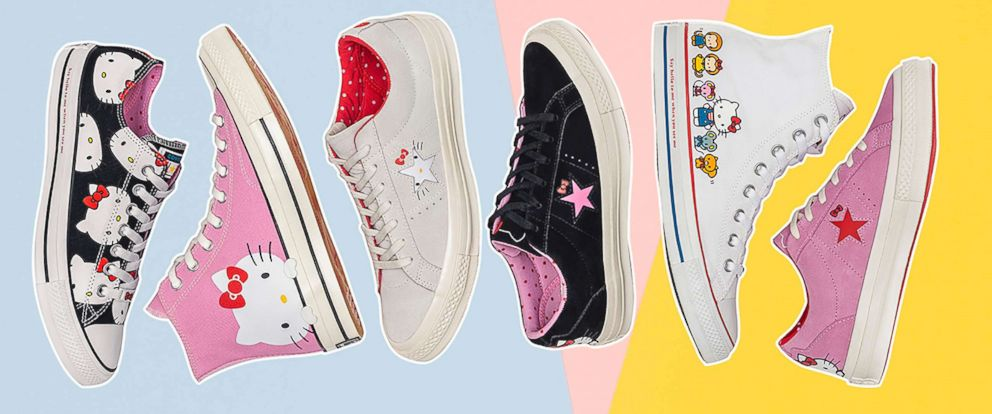 3410c99f96a2 PHOTO  The Converse and Hello Kitty collection features a variety of  sneakers