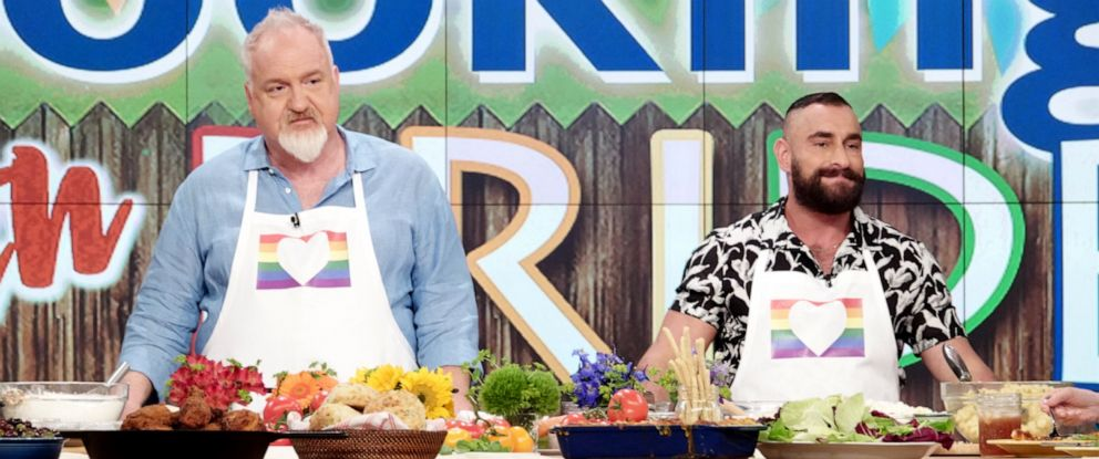 """PHOTO: Culinary chefs Art Smith and Adrian De Berardinis join """"The View"""" for Pride Month on Tuesday, June 25, 2019."""