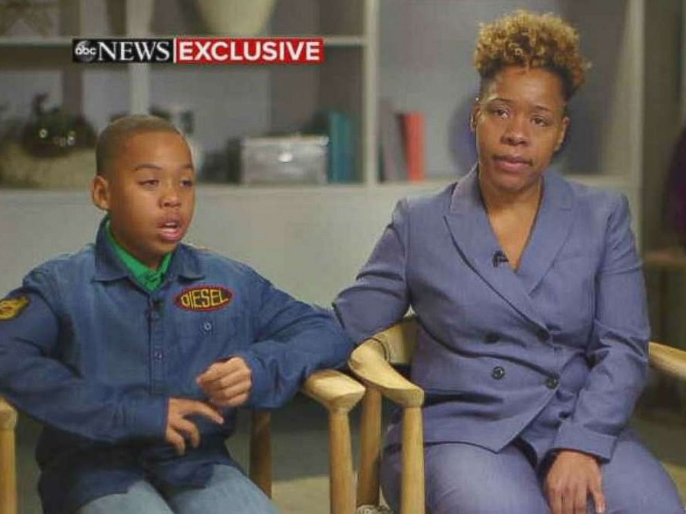 PHOTO: Jeremiah Harvey and his mother Someko Bellille spoke to GMA about being falsely accused of grabbing a woman at a convenience store in New York City.