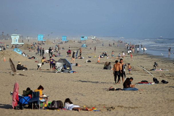 La Announces Increase In Covid 19 Deaths Cases Amid Protests Over Closed Beaches Abc News