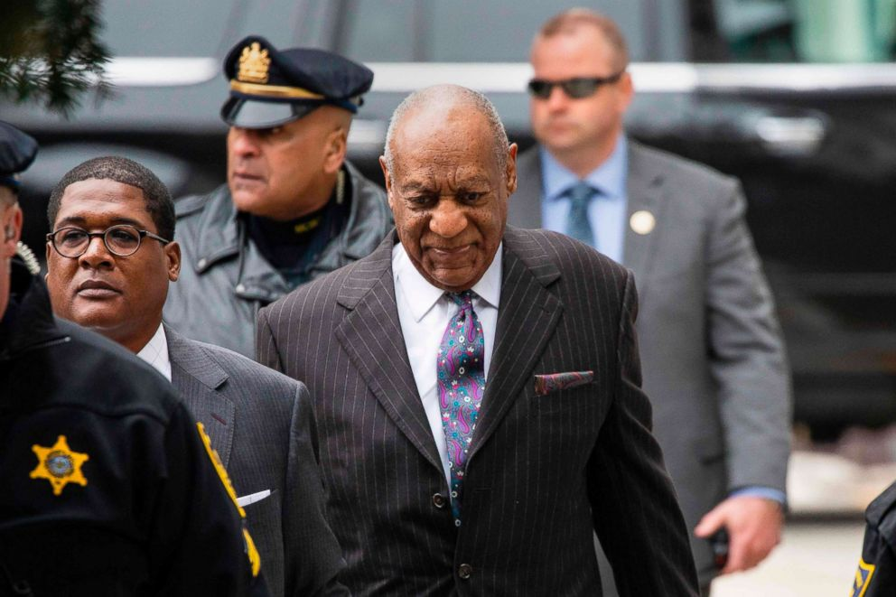 PHOTO: Bill Cosby arrives for the first day of his second trial for sexual assault at the Montgomery County Courthouse in Norristown, Pa., April 9, 2018.
