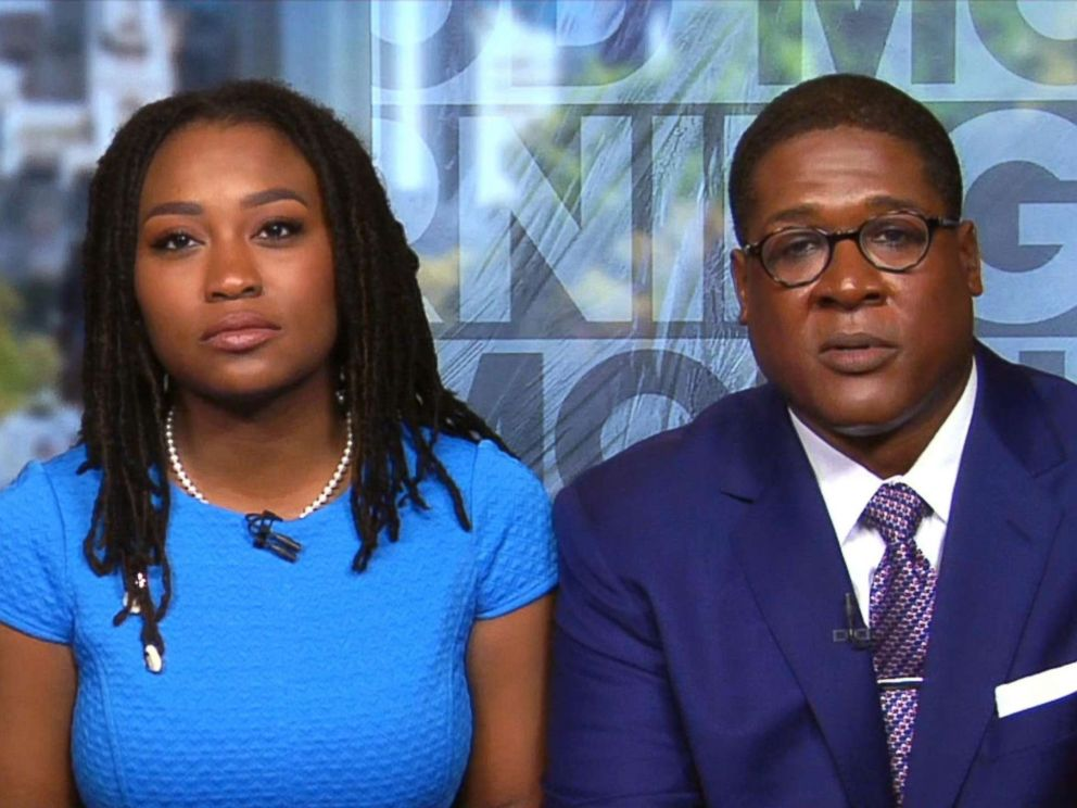 PHOTO: Bill Cosbys publicist Ebonee Benson and lawyer Andrew Wyatt discuss Cosbys sexual assault trial and verdict on Good Morning America, April 27, 2018.