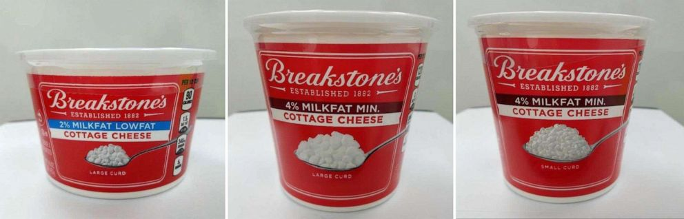 PHOTO: The FDA has announced that some varieties of Breakstones Cottage Cheese have been recalled due to, potential presence of pieces of red plastic and metal that may have been introduced during production, in a press release on Nov. 15, 2019.