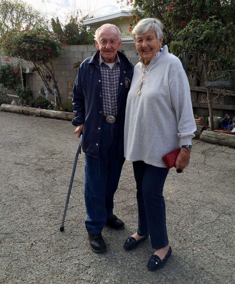 PHOTO: An undated photo of Marcella Shirk, 82, and her husband, James Shirk, 92, who lost their Malibu, Calif., home during the wildfires.