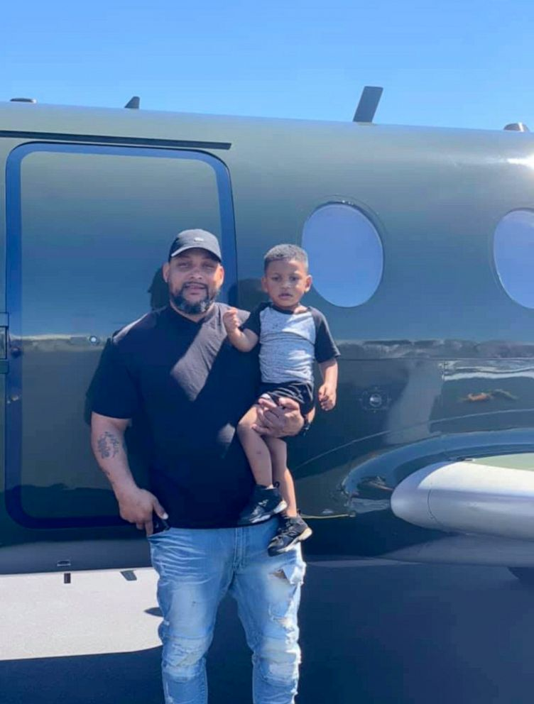 PHOTO: Craig Brewer, 41, poses in this undated photo with his 2-year-old son. Brewer, 41, was shot to death on April 7, 2019, at a Waffle House in Gainesville, Fla., after offering to buy meals for customers.