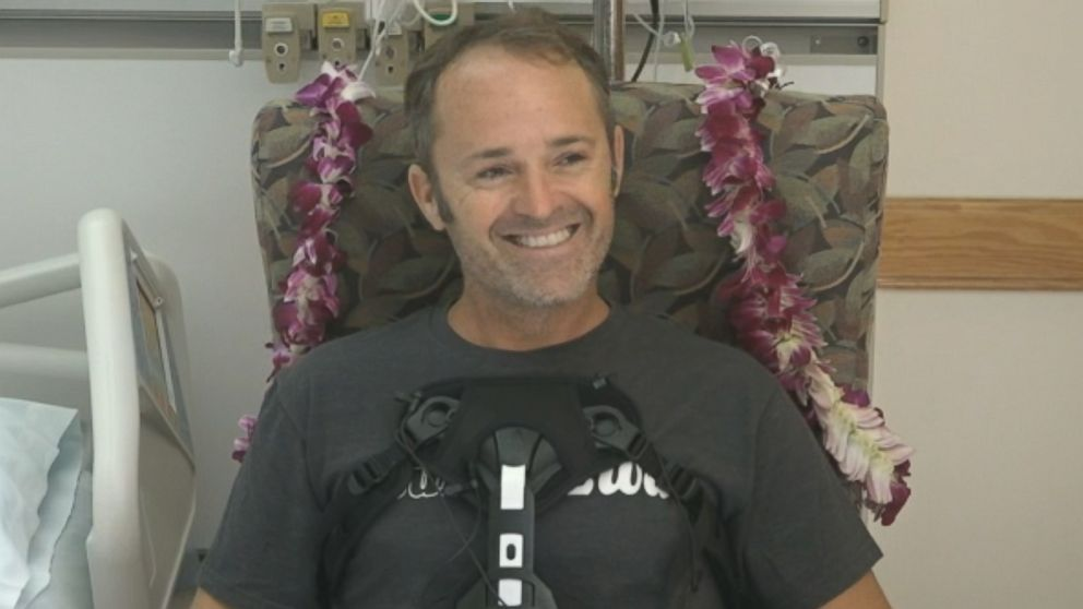Pilot Matt Pothier is recovering after crashing a plane in Oahu, Hawaii, on Thursday in waters near Waikiki Beach.
