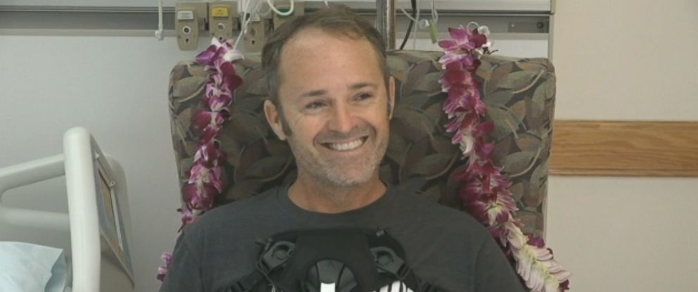 PHOTO: Pilot Matt Pothier is recovering after crashing a plane in Oahu, Hawaii, on Thursday in waters near Waikiki Beach.