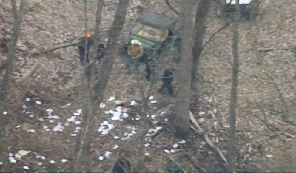 Three crew members were killed in an air ambulance helicopter crash near Zeleski, Ohio, Jan. 29, 2019.