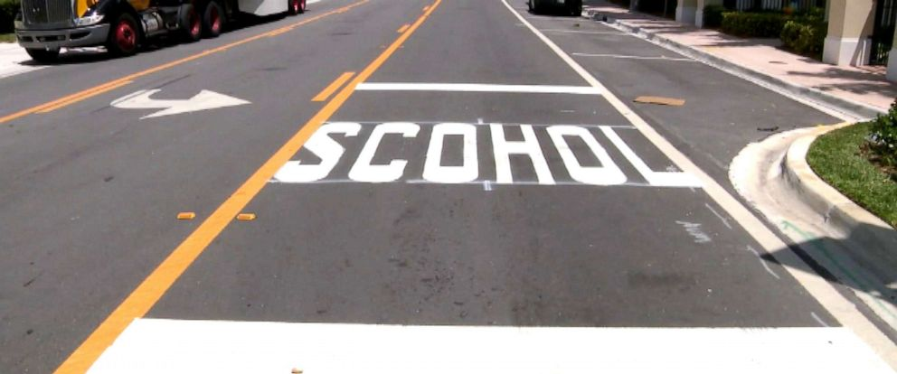 PHOTO: Misspelled school crosswalk found in Doral, Fla.