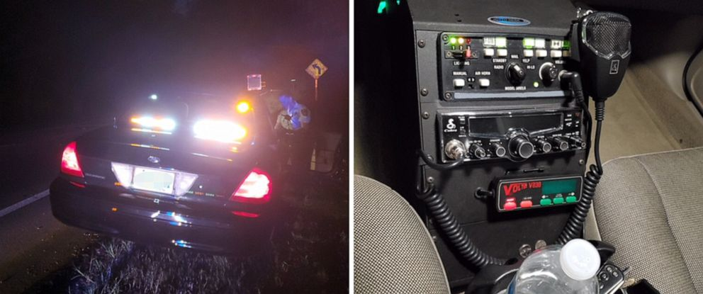 PHOTO: The Hillsborough County Sheriff released images of a black Crown Victoria with white and amber lights, a functional siren box and a CB radio that they say was driven by Barry Lee Hastings Jr. who was arrested on July 4, 2019.