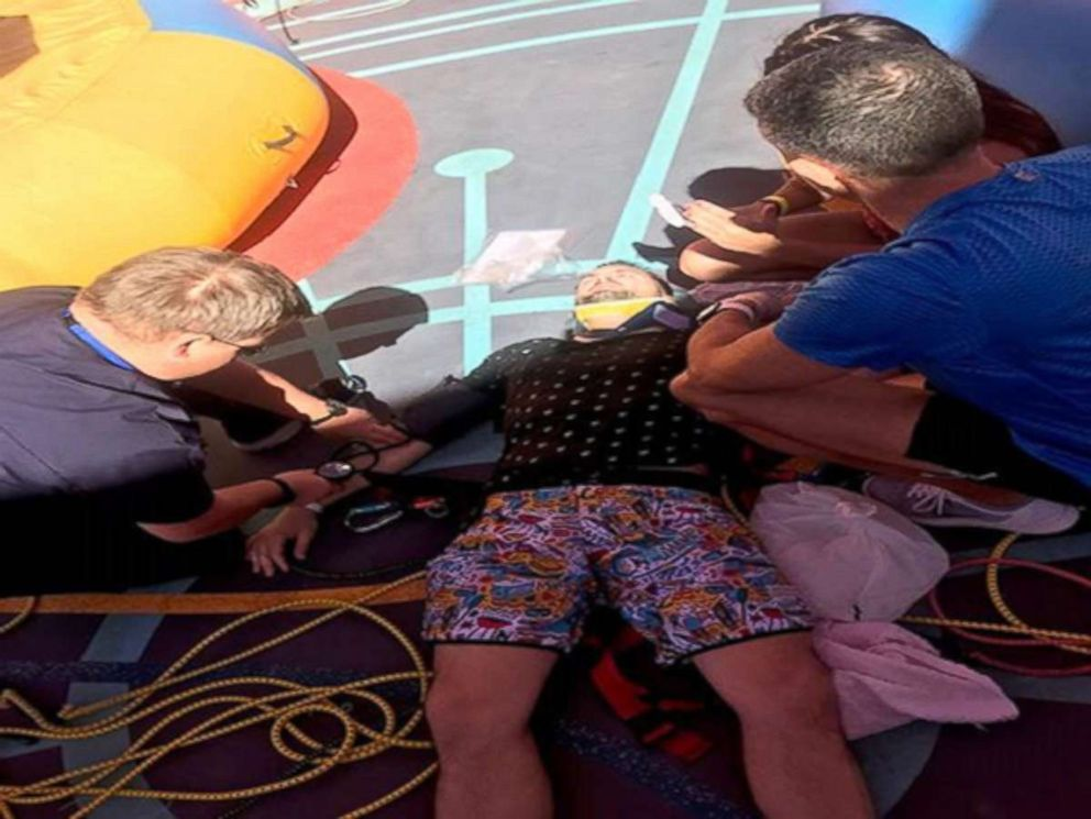 PHOTO: Casey Holladay said he was injured in a bungee trampoline activity on a Royal Caribbean cruise ship in February.