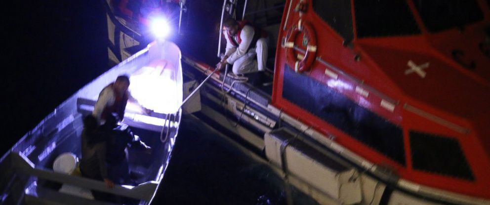 PHOTO: Two Costa Rican fishermen lost at sea for 20 days were rescued by a Royal Caribbean International cruise ship on Dec. 20, 2018, between Jamaica and the Grand Cayman Islands.