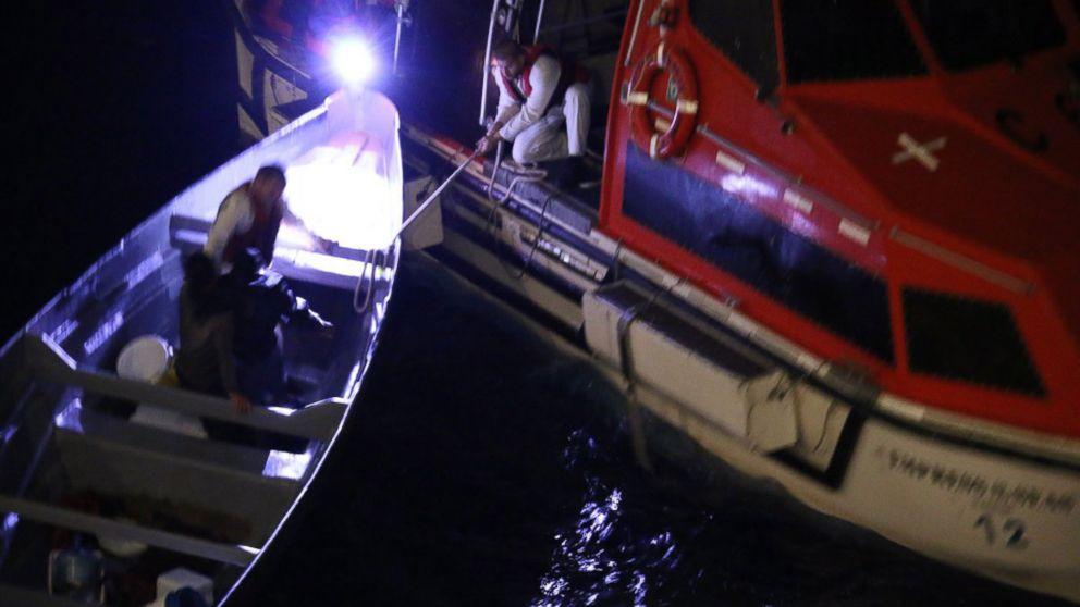 Two Costa Rican fishermen lost at sea for 20 days were rescued by a Royal Caribbean International cruise ship on Dec. 20, 2018, between Jamaica and the Grand Cayman Islands.