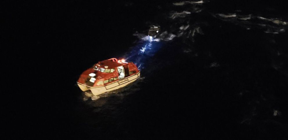 PHOTO: Two Costa Rican fishermen lost at sea for 20 days were rescued by a Royal Caribbean International cruise ship, Dec. 20, 2018, between Jamaica and the Grand Cayman Islands.