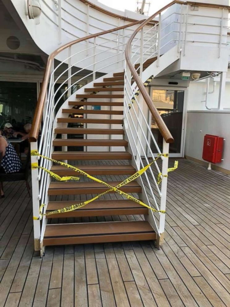 PHOTO: The more than 2,000 passengers aboard a two-week-long Norwegian Cruise Line journey from Miami to Los Angeles in March captured images and video of construction being done on the ship Norwegian Sun during their vacation.