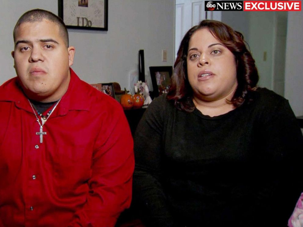 PHOTO: Timothy Tenorio and Andrea Smith speak out about the death of their mother, Almarosa Tenorio, who fell to her death on Nov. 13, 2018, from a deck on a Royal Princess cruise to Aruba.