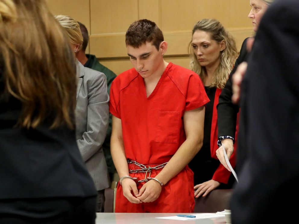 PHOTO: Nikolas Cruz appears in court for a status hearing before Broward Circuit Judge Elizabeth Scherer in Fort Lauderdale, Florida, Feb. 19, 2018.