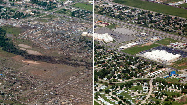 Oklahoma Tornado Before And After Images Abc News