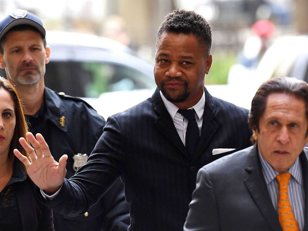 PHOTO: Actor Cuba Gooding Jr., (C) arrives for his trial on his sexual assault case on Oct. 10, 2019, in New York City.