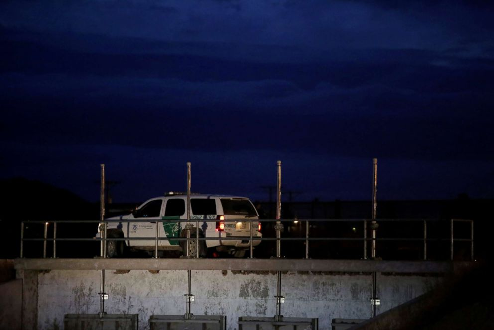 PHOTO: A U.S. Customs and Border Protection vehicle patrols along the border in El Paso, Texas, in this picture taken from Ciudad Juarez, Mexico, Feb. 14, 2019.