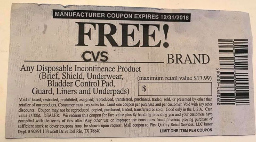 Camilla Hudson provided this image of a coupon that she tried to use at a CVS in Chicago.