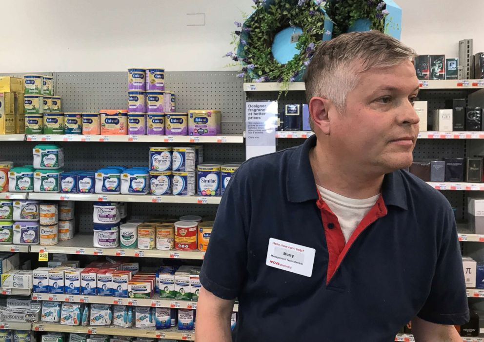 Morry Matson is pictured at a CVS pharmacy in Chicago in a photo taken by Camilla Hudson.