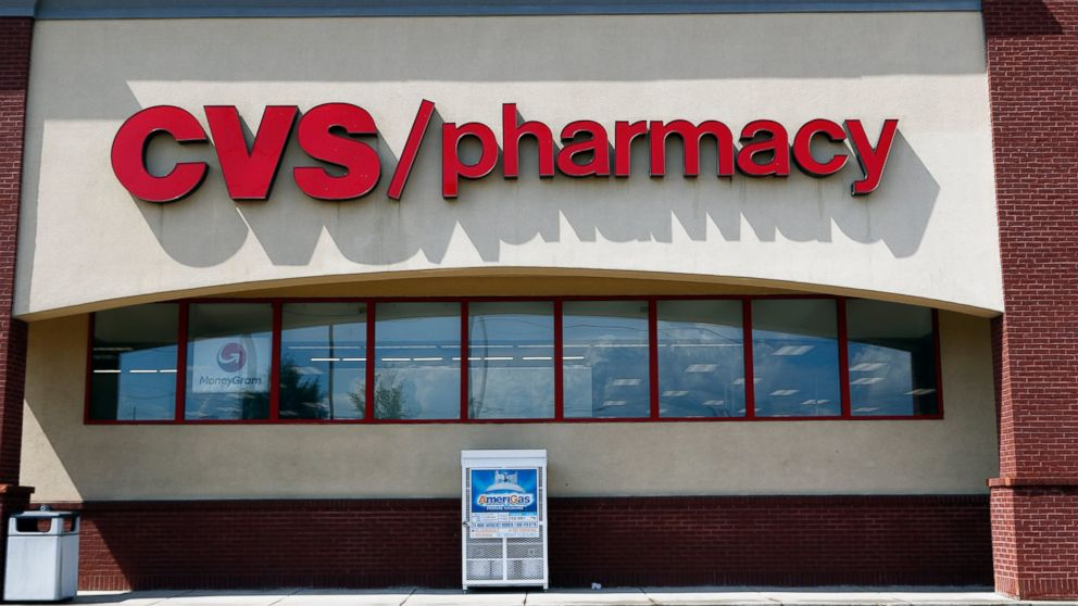 In this Aug. 7, 2018, file photo a CVS Pharmacy building sign rests on a Jackson, Miss., store.