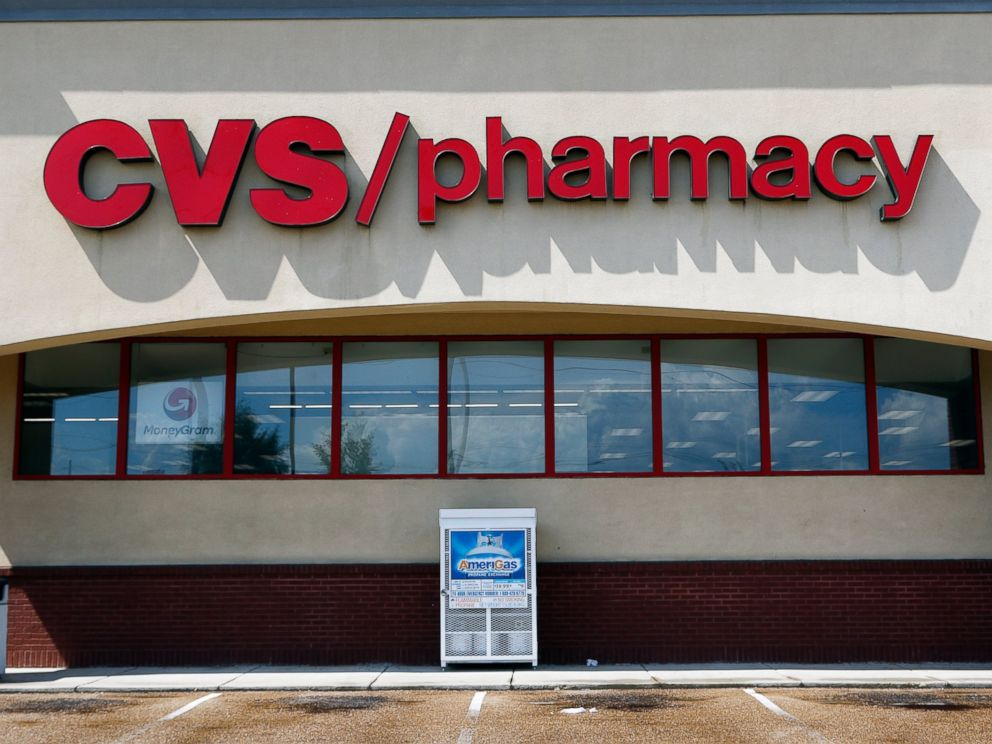 PHOTO: In this Aug. 7, 2018, file photo a CVS Pharmacy building sign rests on a Jackson, Miss., store.