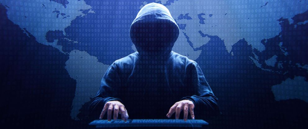 PHOTO: A computer hacker sitting in front of a virtual screen is pictured in this undated stock photo.