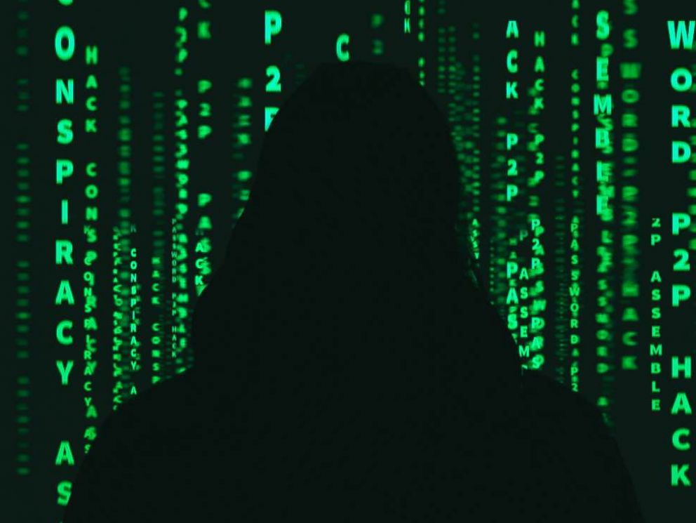PHOTO: A hacker is pictured with graphic user interface in this undated stock photo.
