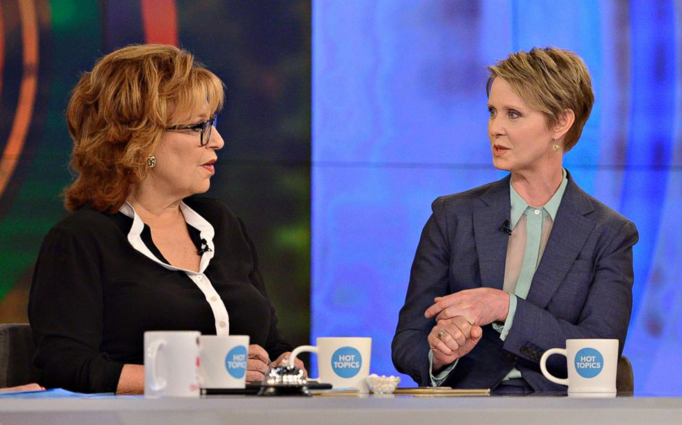 PHOTO: Cynthia Nixon visits The View on the ABC television network, June 21, 2018.