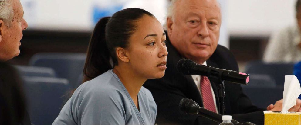 PHOTO: Cyntoia Brown, the Nashville woman sentenced to life in prison at age 16 for the murder of a stranger who picked her up at a fast food restaurant, speaks at a clemency hearing in Nashville, May 23, 2018.