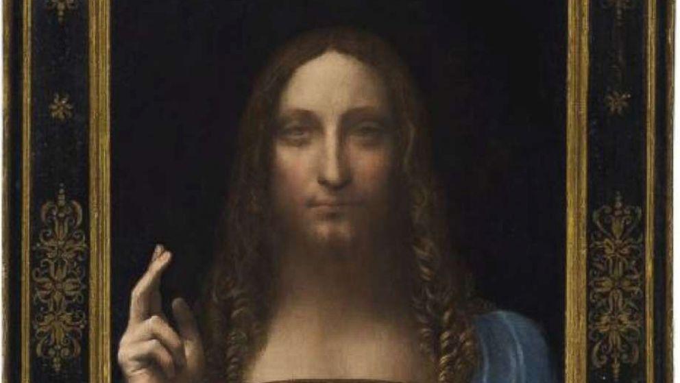 "Leonardo da Vinci's ""Salvator Mundi"" painting."