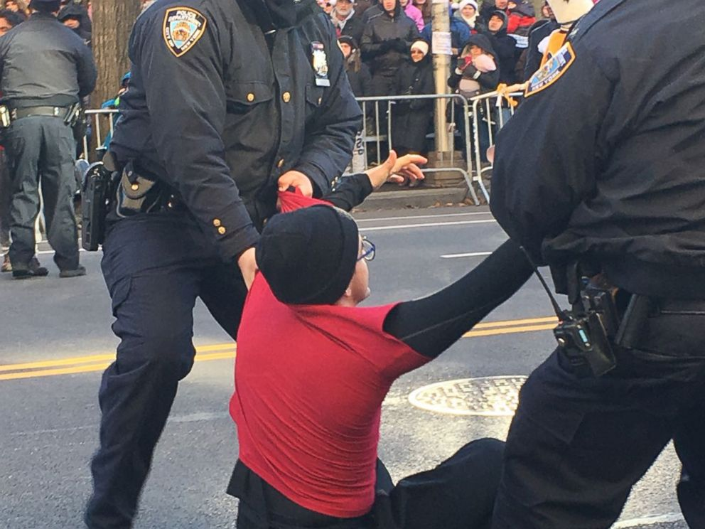 PHOTO: The four protesters said they were not arrested or given any citations after their non-violent demonstration.
