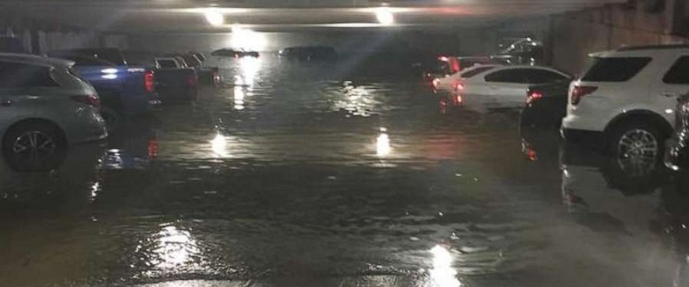 PHOTO: Heavy rain caused flash flooding at Dallas Love Field Airport, including in the parking garage, early Wednesday, April 24, 2019.