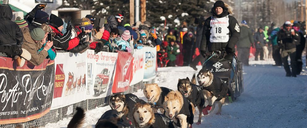 PHOTO: Dallas Seavey at the start of the 45th Iditarod Trail Sled Dog Race in Fairbanks, Alaska in this March 6, 2017 file photo.