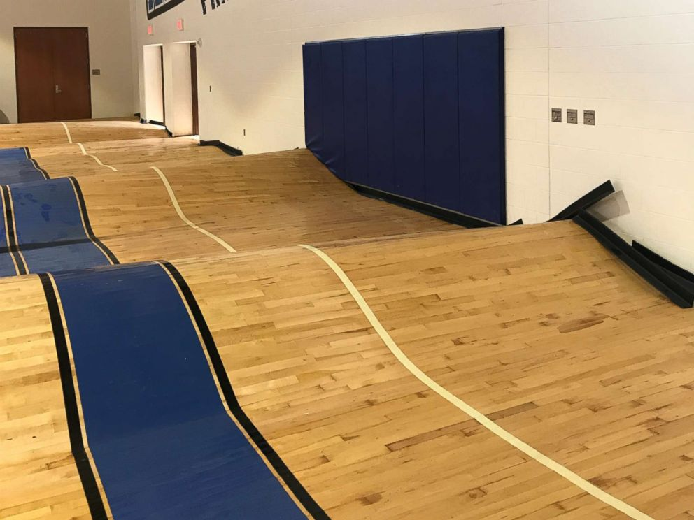 PHOTO: Flooding damage at C.E. King High School in northeast Houston after Harvey struck.