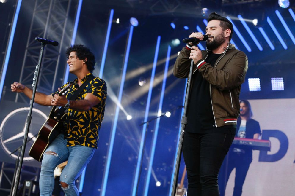 PHOTO: Dan + Shay on Jimmy Kimmel Live! July 31, 2018, in Los Angeles.