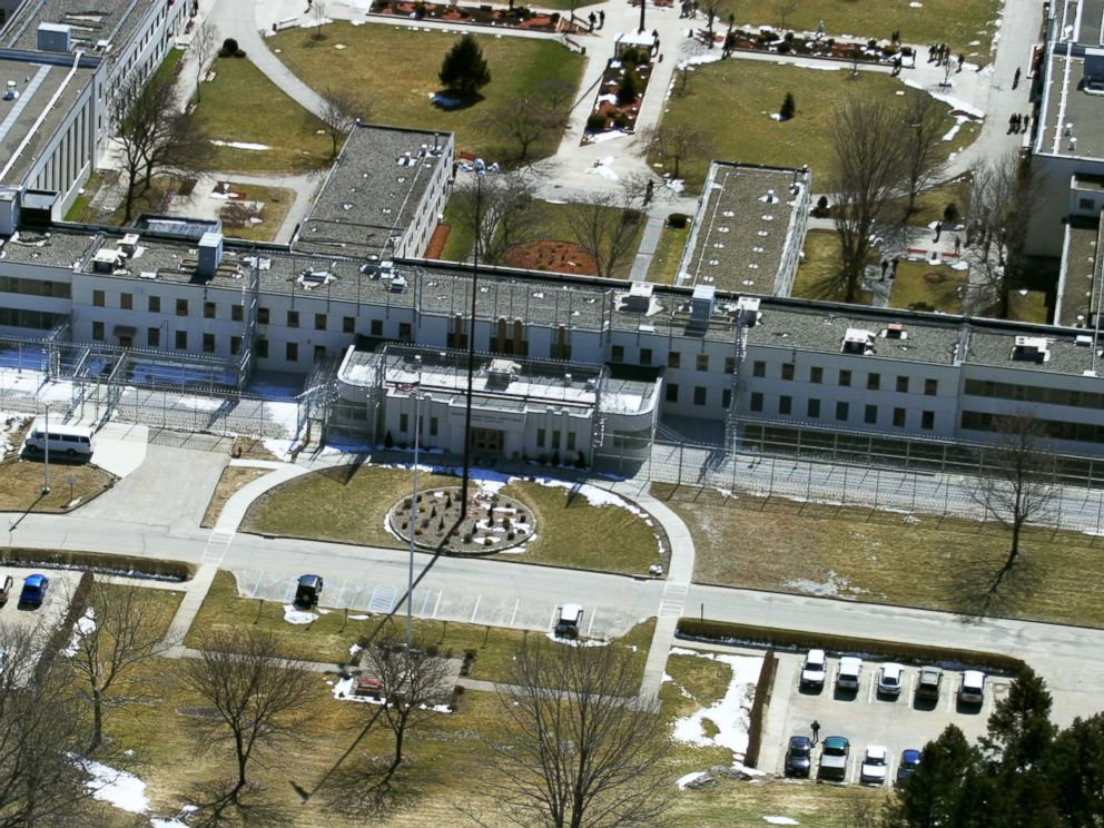 PHOTO: The Federal Correctional Institution in Danbury, Conn., is pictured from above, March 22, 2004.