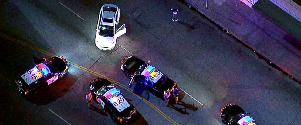 PHOTO: The chase began after the driver failed to yield to commands to stop by California Highway Patrol officers.