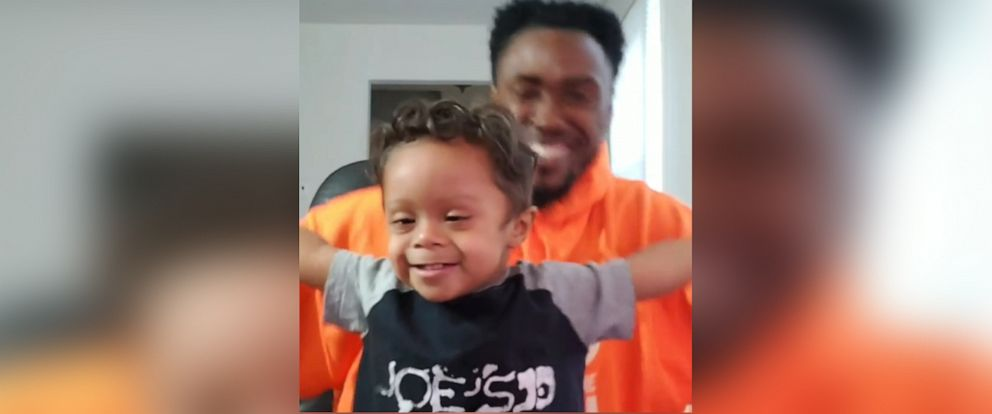 PHOTO: Kenny Clutch shared a video of him and his son Kristian dancing to celebrate the 2-year-old being cancer free.