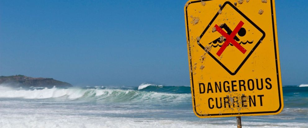 PHOTO: In this undated stock photo shows a danger sign on the beach.