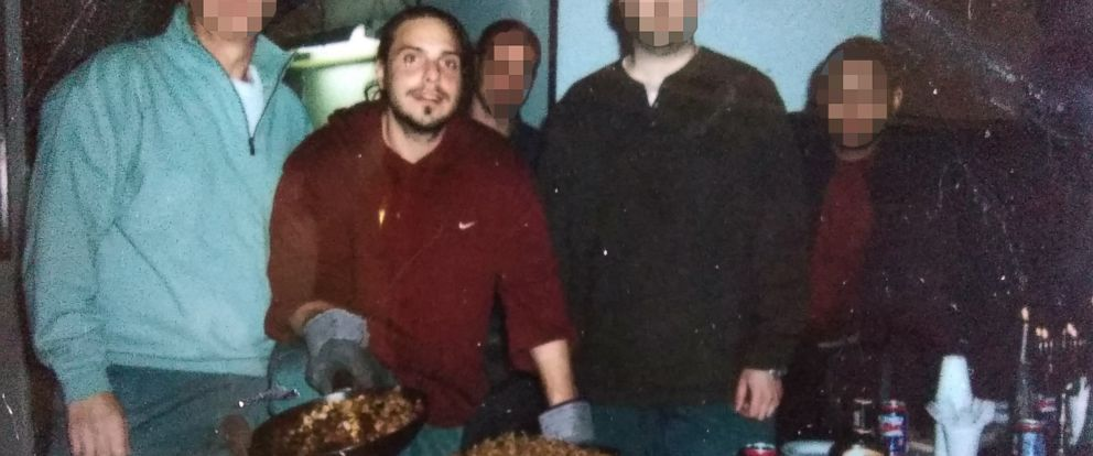 PHOTO: Daniel Genis and fellow inmates observe Thanksgiving with a turkey in prison in 2008.