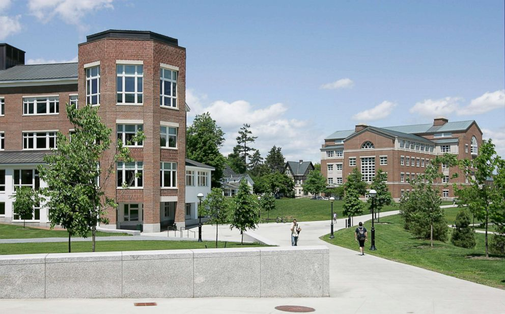 PHOTO: The Kemeny building, left, and Moore building stand on the campus of Dartmouth College in Hanover, New Hampshire, June 2, 2009.