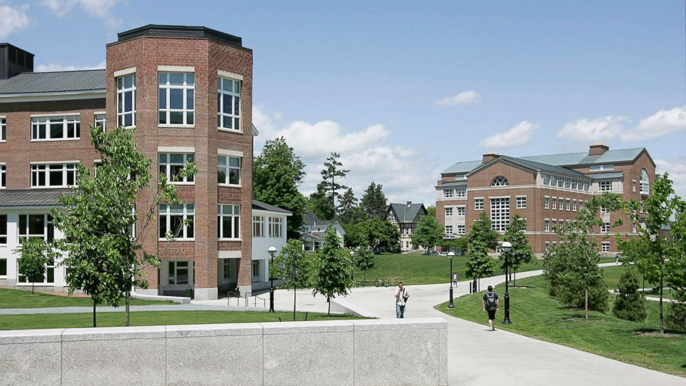 The Kemeny building, left, and Moore building stand on the campus of Dartmouth College in Hanover, New Hampshire, June 2, 2009.