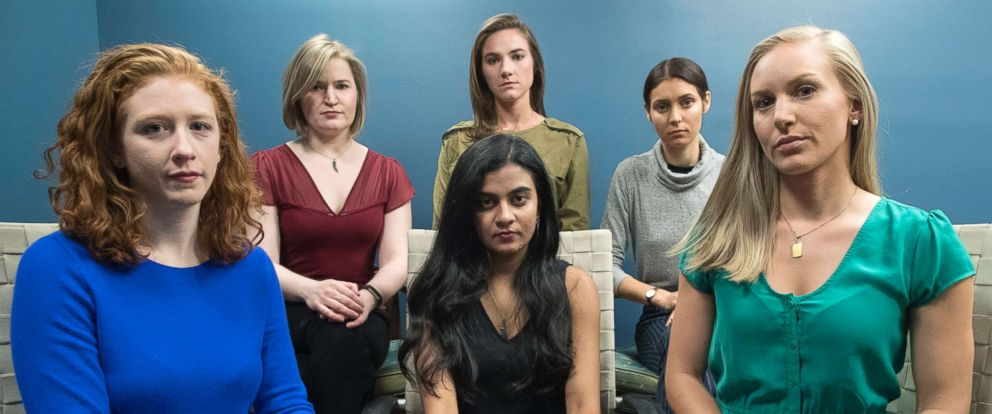 PHOTO: From left back row, Annemarie Brown, Andrea Courtney, and Marissa Evansin, and front row from left, Sasha Brietzke, Vassiki Chauhan, Kristina Rapuano.